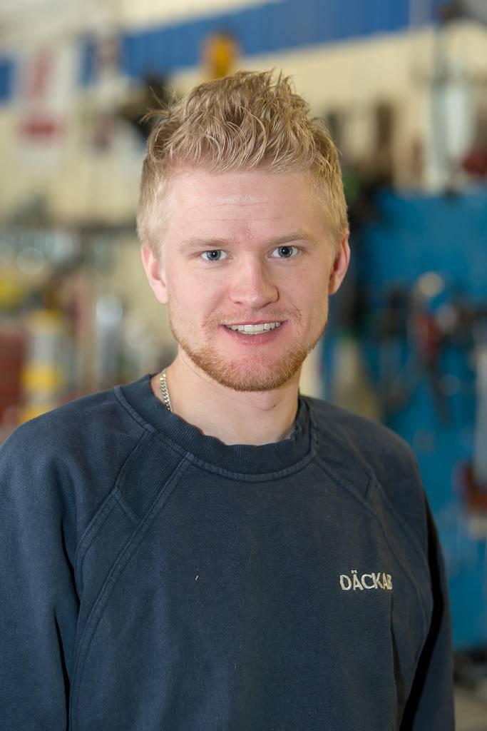 Victor Hallquist Däckab Åsarna. Foto: Morgan Grip / Mediamakarna Grip