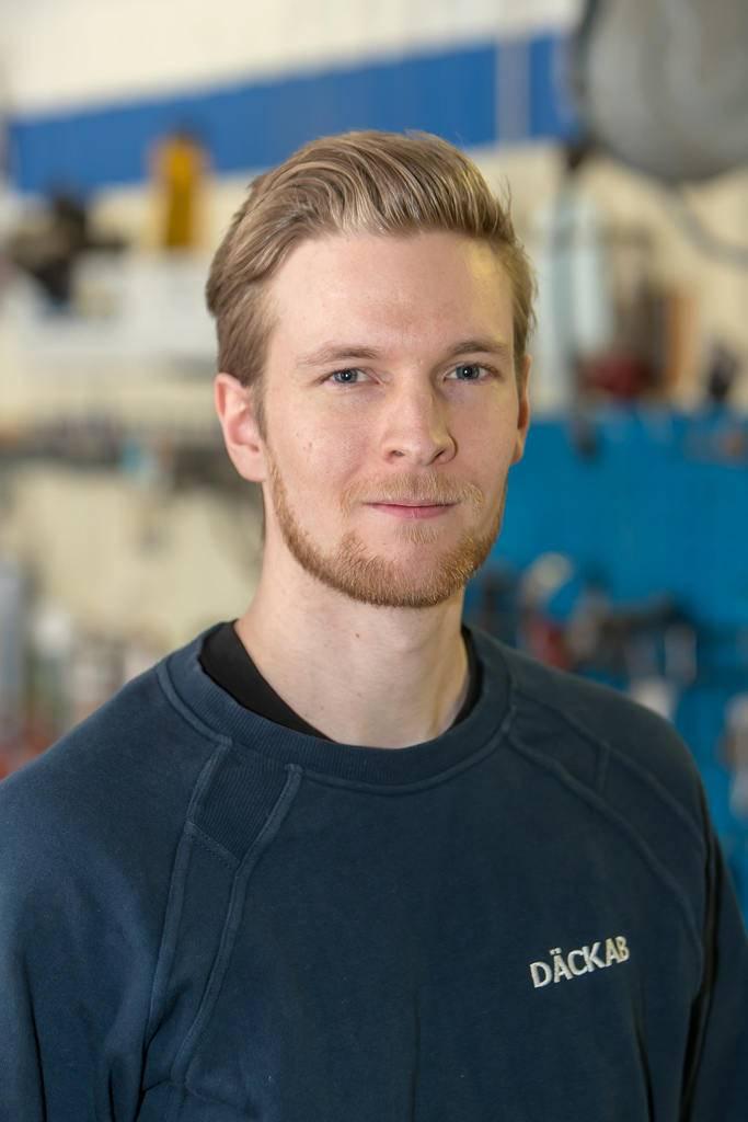 Tim Olofsson Däckab Åsarna. Foto: Morgan Grip / Mediamakarna Grip