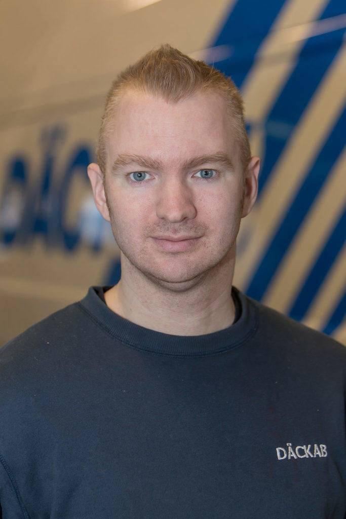 Mikael Krigh Däckab Hudiksvall. Foto: Morgan Grip / Mediamakarna Grip